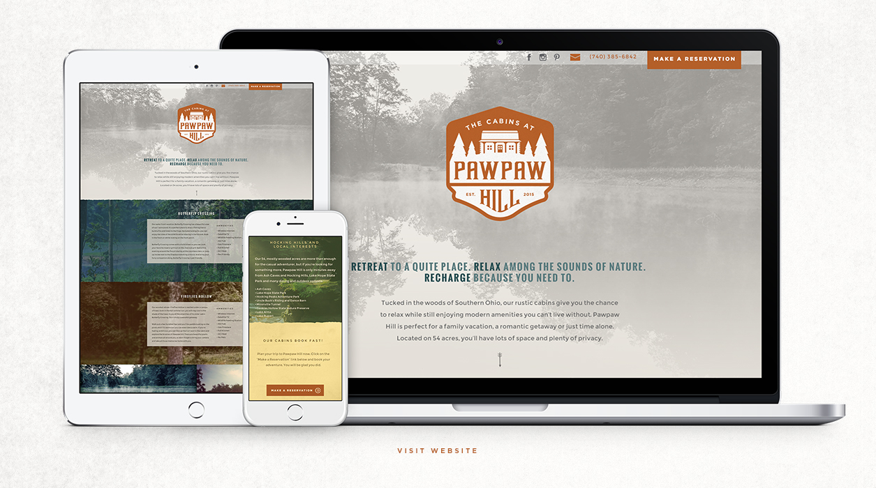 Pawpaw Hill - Logo/brand development - Hocking Hills, OH