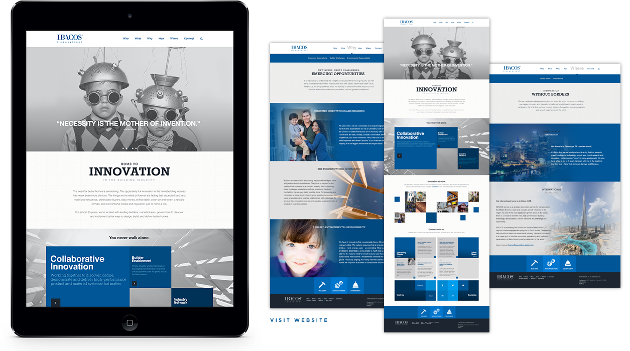IBACOS - Responsive website - Pittsburgh, PA